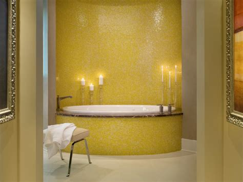 yellow bathroom photos hgtv