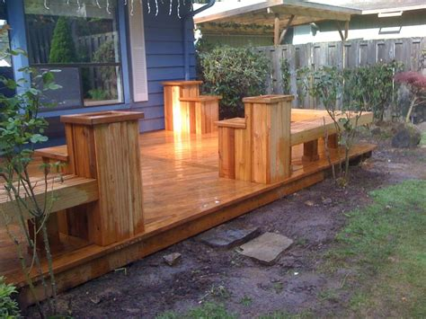 deck benches with planters cedar deck w built in planters and benches yelp