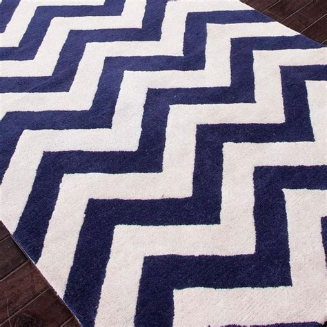 Chevron Navy Rug by Image Navy Blue And White Chevron Rug