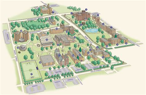 Twin Towers Floor Plans campus map