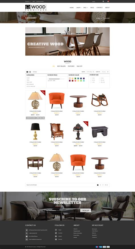 shopify themes parallax wood furniture decoration parallax shopify theme