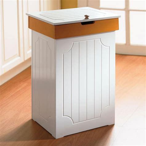 kitchen garbage can storage modern decor garbage bin white wooden kitchen trash storage organizer 13 gal can ebay