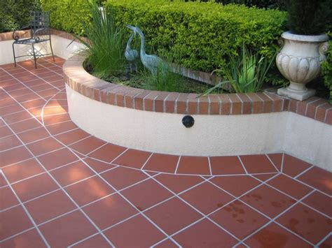 terracotta tile terrace tiles patio ideas