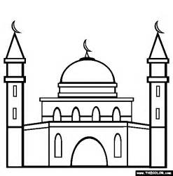 The Outline In Color by Mosque Coloring Page Free Mosque Coloring