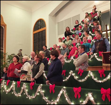 living christmas tree sings at thomaston baptist church