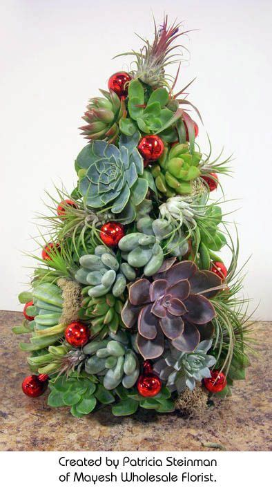 succulent christmas trees and instructions for diy