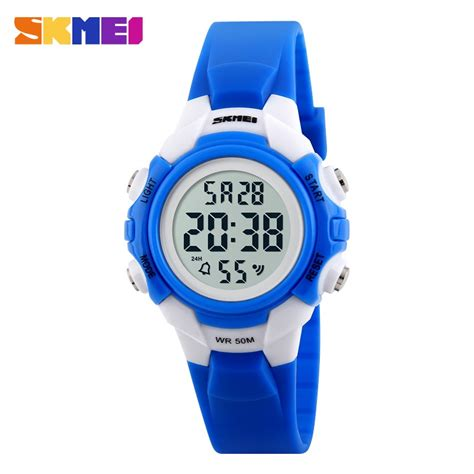 skmei children sport led water resistant 50m