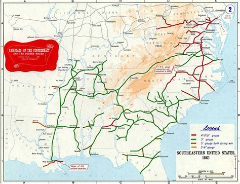 map of united states during civil war confederate railroads in the american civil war