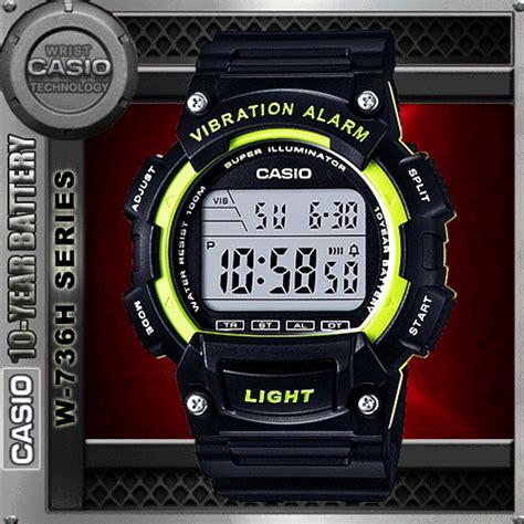 Casio Original Series W 736h 2a Casio Original For Mens Casio W 736h 3av Vibration Alarm Wat End 4 10 2018 6 19 Pm