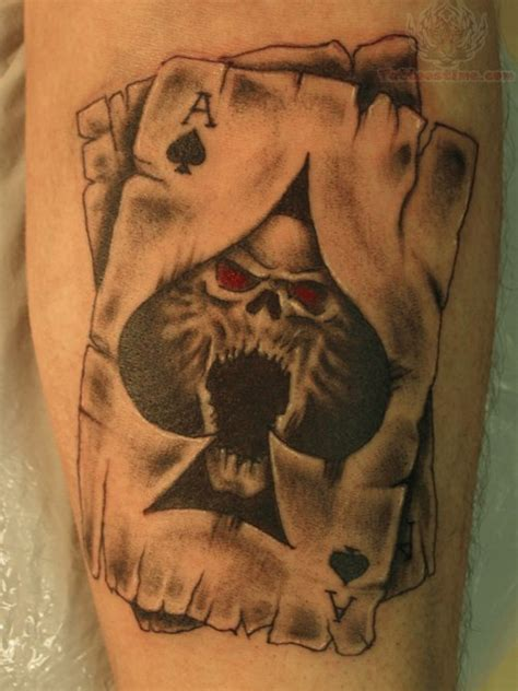 ace of spades card tattoo designs burning dice cards 8 on arm 2 jpg 500