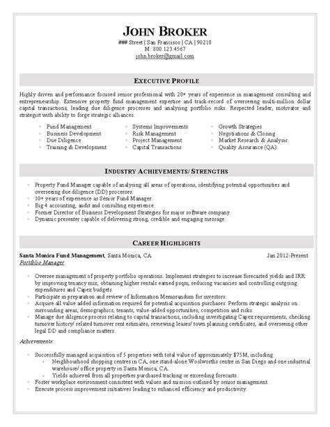 Resume Sle For Portfolio Administrator Portfolio Manager Resume