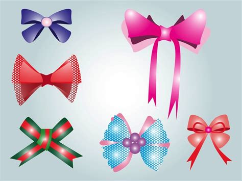 colorful bows colorful bows decorative pattern vectors vector free