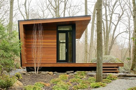 modern small cabins gallery a modern studio retreat in the woods workshop