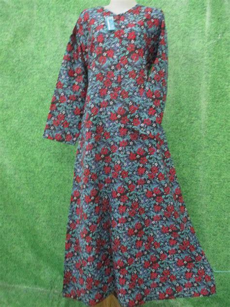 Gamis Katun Jepang Electra Dres Warna Baru gamis katun bunga jumbo obralanbaju obral baju pakaian murah meriah 5000