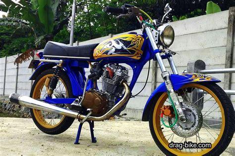 51 foto gambar modifikasi motor cb 100 terbaik kontes drag bike