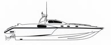 How To Draw A Speed Boat By Step Sketch Coloring Page sketch template