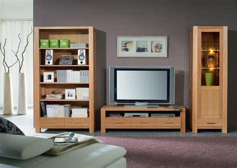 wohnzimmerwand echtholz wohnwand wohnzimmerwand b 252 cherregal vitrine tv regal