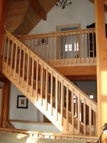Interior Wood Stair Railing by Interior Finishes Tamlin Homes Timber Frame Home Packages