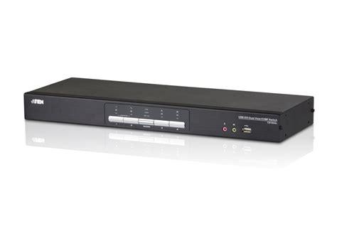 Dijamin 4 Load Audio Switch 4 port usb dvi dual link dual display audio kvmp switch cs1644a aten desktop kvm switches