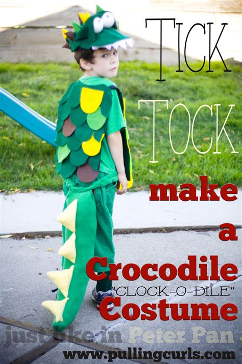 How To Make A Crocodile Mask Out Of Paper - make a crocodile costume quot the clock o dile quot