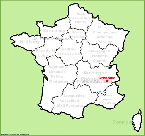 map of grenoble grenoble location on the map
