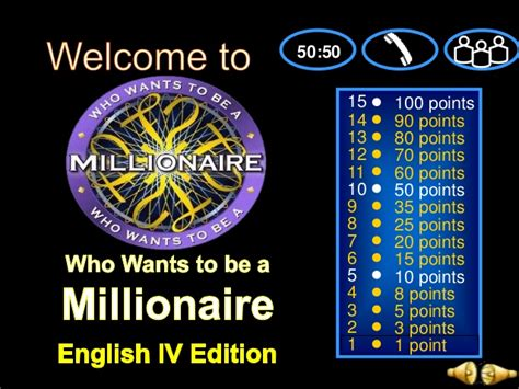 Verb Tenses Powerpoint Game Who Wants To Be A Millionaire Who Wants To Be A Millionaire Presentation Template