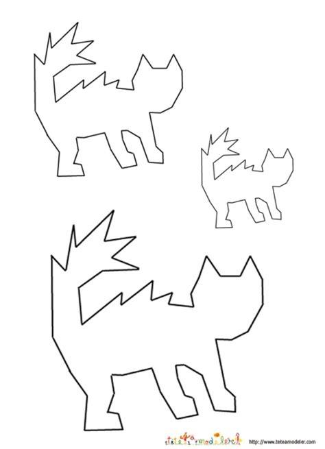 Gabarit silhouettes de chat - Tête à modeler