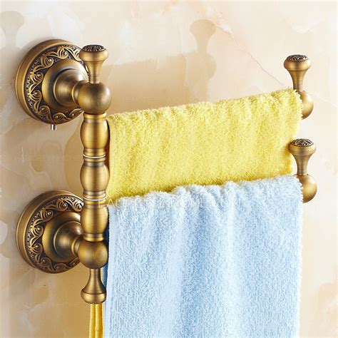 antique brass rotate bathroom accessory towel bars