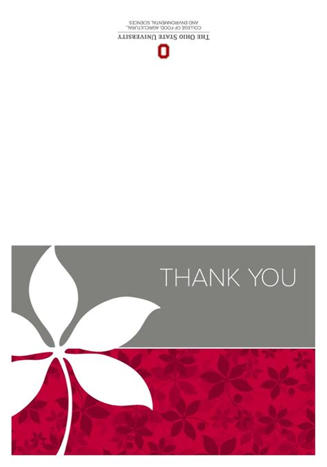 Thank You Card Template by Thank You Card Templates The Cfaes Brand