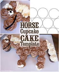 pony cake template cupcake cake how to by press print