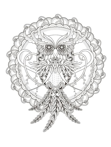 owl mandala coloring pages for adults 1000 images about colouring pages on