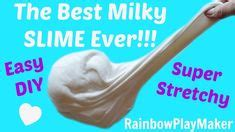 tutorial milky slime how to make shoo slime that you can hold play with