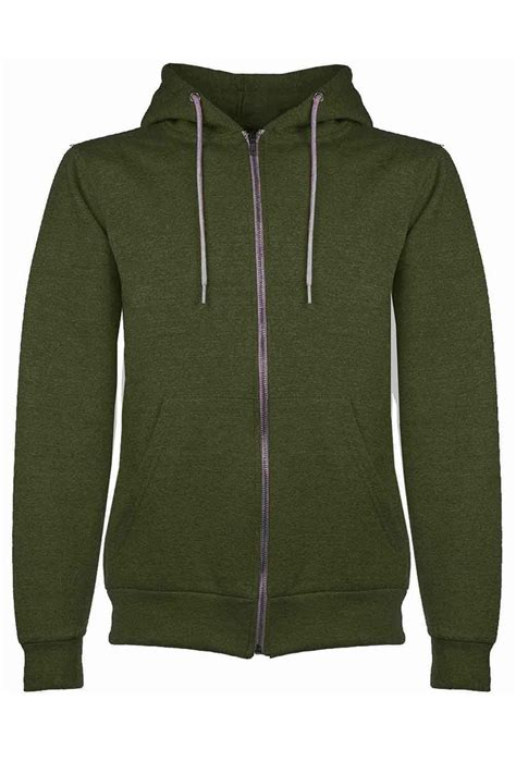 Zipper Plain Hoodie mens plain hoodie fleece knit zip up hoody jacket hooded