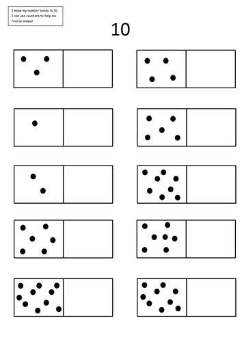 number bonds to 10 worksheets number bonds 5 and 10 tangie number bonds number and number bonds worksheets