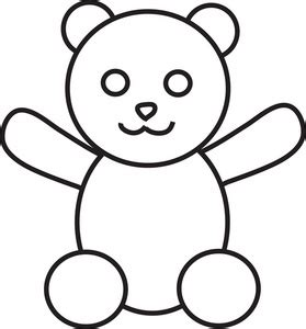 Teddy Outline Images by Teddy Outline Clipart Clipart Panda Free Clipart Images