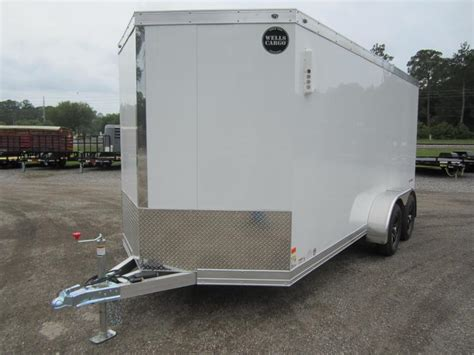 nudo flooring for trailers wauv7x1622 wells cargo 7x16 silver sport aluminum enclosed