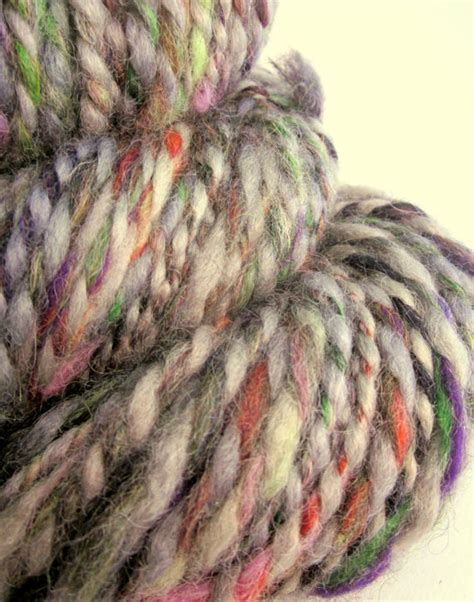 knitting leicester handspun dyed bulky blue faced leicester by