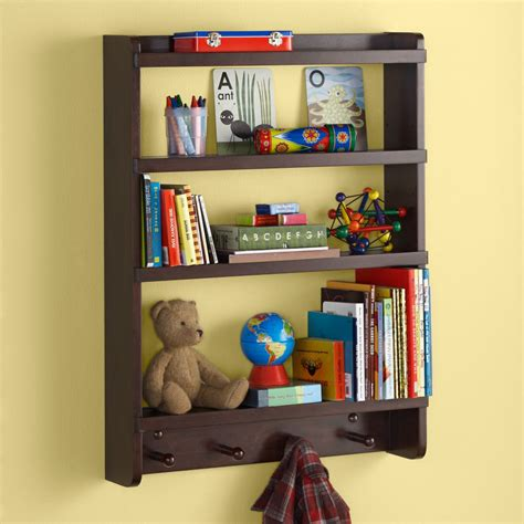children s happy wall rack espresso hanging