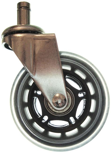 chair roller wheels 3 inch soft rubber roller blade style chair caster wheels