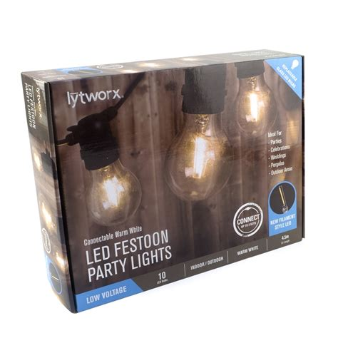 Lytworx Warm White Party Light Connectable 10 Pack Lights Bunnings