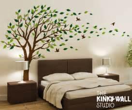 Wall Sticker Art Tree blowing tree wall decal bedroom wall decals wall by kinkywall