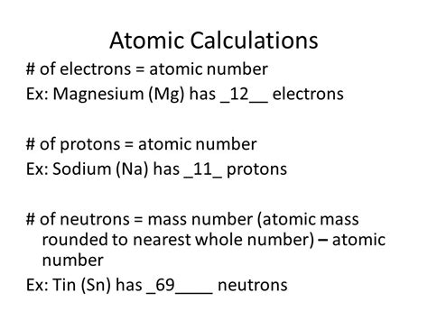 Number Of Protons In Mg by The Atom The Periodic Table Ppt