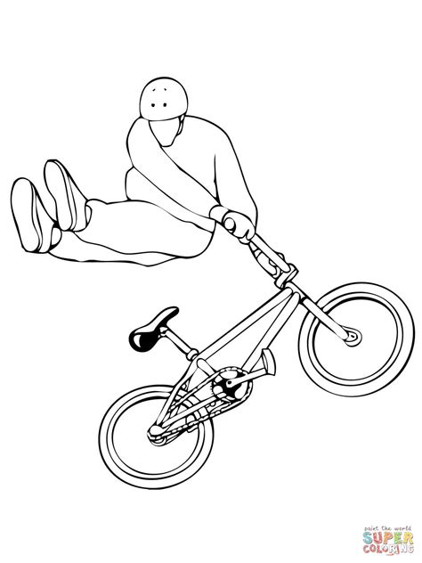 tail whip bmx coloring page free printable coloring pages