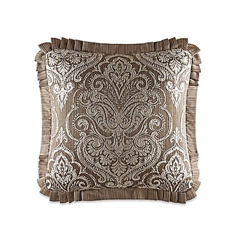 bed bath and beyond stafford j queen new york stafford square throw pillow in mocha