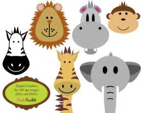 Zoo jungle animals clipart print candee