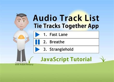javascript tutorial audio audio playlist play buttons javascript programming
