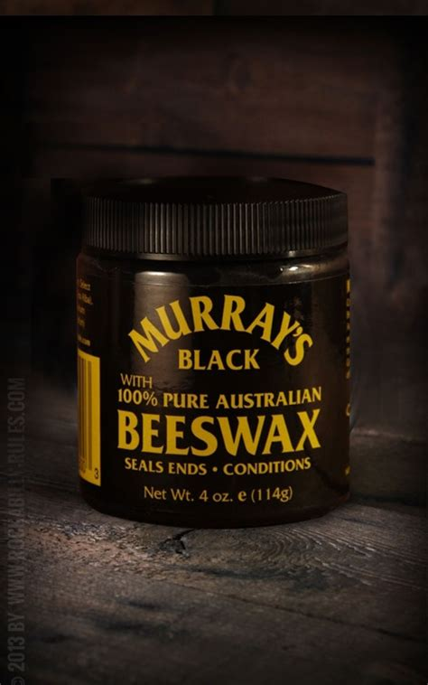 Murrays Pomade Black Beeswax murray s pomade haarpomade mit tradition beeswax black