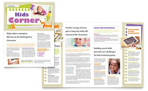 Mba Kindergarten League by Education Newsletters Templates Designs