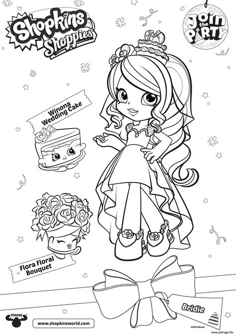 Coloriage Shopkins Shoppies Join The Party Winona Wedding Shopkins Coloring Book L