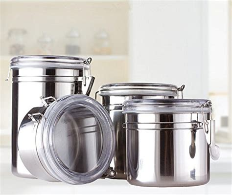 food canisters kitchen 2018 coolest 17 stainless steel canisters 2018